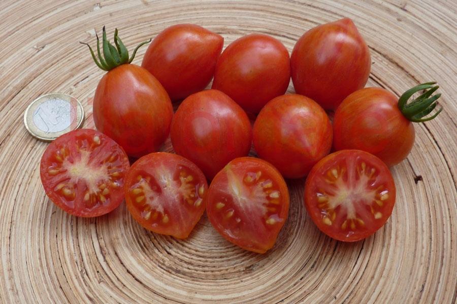 Tomate 'Taubenherz gestreift kleine Früchte' Saatgut
